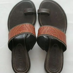 Cole Haan Country Tan Leather Slide Sandal